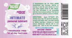 Intimate Personal Lubricant Fragrance Free-
