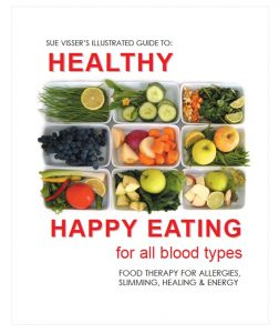 "NF 041 Book by Sue Visser: ""Happy Healthy Eating"""