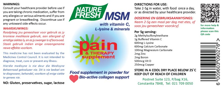 Pain Therapy Tablets Label