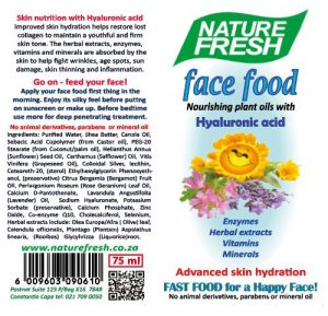 NF 055 FACE FOOD with Hyaluronic Acid – 75ml tube