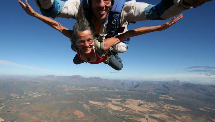 Sue sky diving!