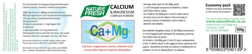 Calcium Powder Label