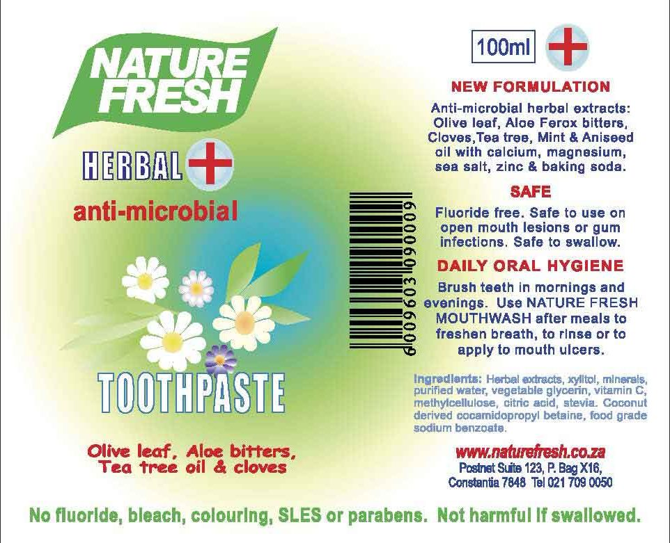 Herbal anti-microbial Toothpaste