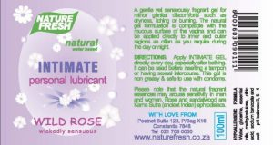 Intimate Personal Lubricant Wild Rose